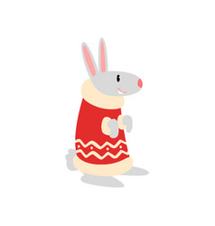 rabbit symbol of new year cute animal of chinese vector image