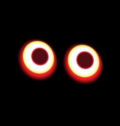 Round tail lights at night vector