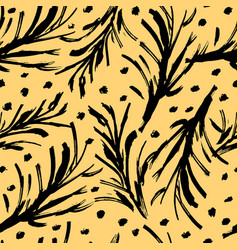 seamless pattern with brush stripes vector image