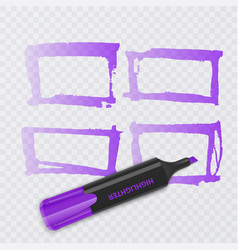 set of colorful markers with highlighter elements vector image