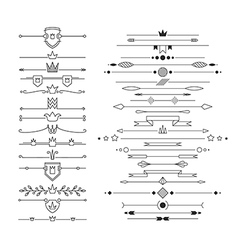 Set of linear empty flat headers vector image