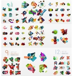 set of paper graphics vector image