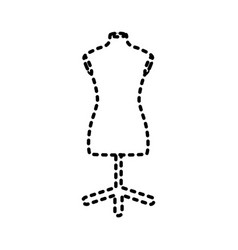 sewing mannequin vector image vector image