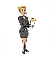 sexy secretary vector image