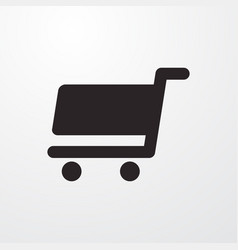 Shopping chart sign icon flat design style vector
