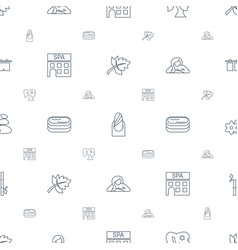 Spa icons pattern seamless white background vector