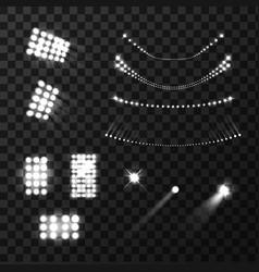 Stadium lights realistic set vector