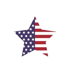 Star shape icon USA design graphic vector