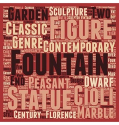Statues And Fountains In Florence text background vector