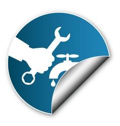 Sticker to repair plumbing vector