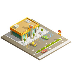 store building isometric concept vector image