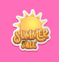 Summer sale label or tag isolated on pink vector