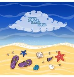 Summer tropical beach banner vector
