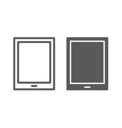 tablet line and glyph icon electronic computer vector image