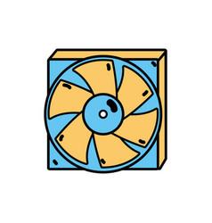Technology hard drive fan processor vector