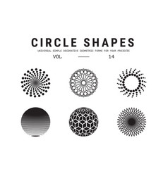 universal circle shapes set vector image