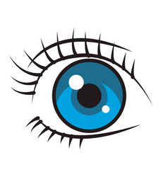 woman eye cartoon vector image