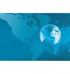 world map globe background vector image