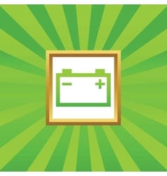 Accumulator picture icon vector image vector image