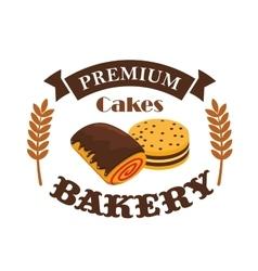 Bakery pastry shop busniess label emblem vector image