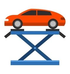 Car repair service diagnostics flat vector