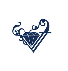 Diamond logo ornament vector