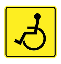 Disabled yellow sign vector