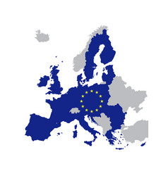 european union map with stars of the eu vector image