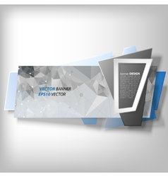 Infographic banner origami styled vector image