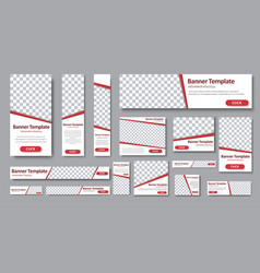 set of web banners in standard sizes vector image vector image