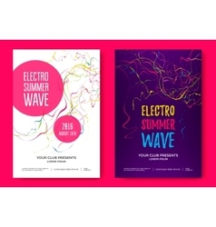 Summer wave music poster vector image