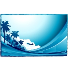 tropical background vector image vector image