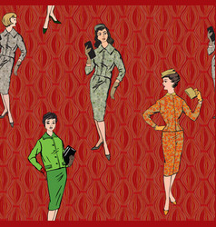 vintage dressed girl 1920s style retro fashion vector image