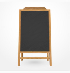 wooden blackboard cafe menu vector image