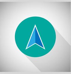 arrow navigation icon vector image vector image