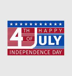 happy fourth july independence day card usa style vector image