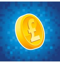 Pound Dollar Coin vector image vector image