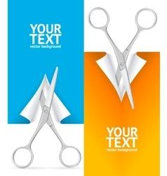 Scissor Banner Vertical Set vector image vector image