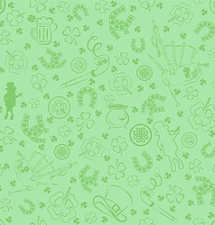 Seamless StPatricks day background vector image