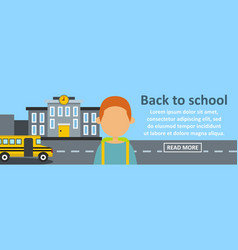 back to school banner horizontal concept vector image
