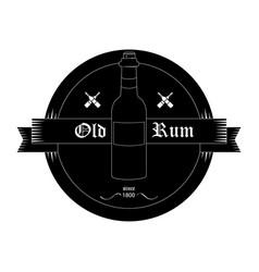 black bottle emblem vector image