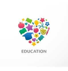 Education learning student and school icon vector image vector image