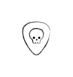 figure rock emblem with skull symbol design vector image vector image