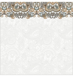 hand draw ornate card announcement vector image