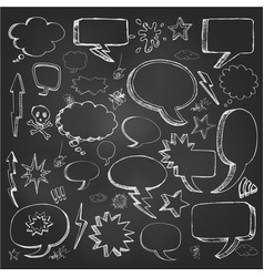 hand drawn sketch speech bubble vector image vector image