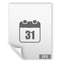 calendar simple icon vector image