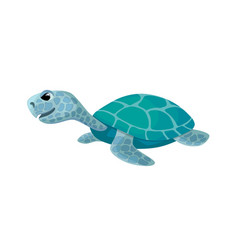 cute turtle isolated cartoon image vector image