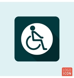 Disabled handicap icon isolated vector
