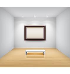 gallery interior with empty vector image vector image