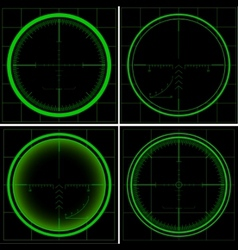 radar screen or sniper sight vector image vector image